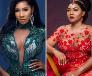 Nigerian Designer Accused Of Giving Out Bride's Reception Dress To Mercy Aigbe