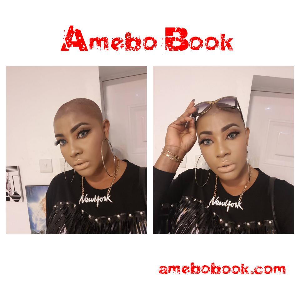 Angela Okorie Unveils New Bald Look