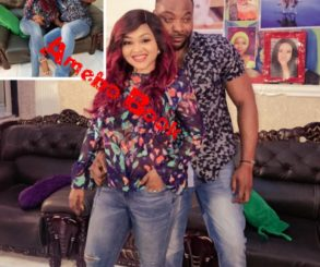 Bolanle Ninalowo Pictured Chilling With Mercy Aigbe On Set Of JUDAS