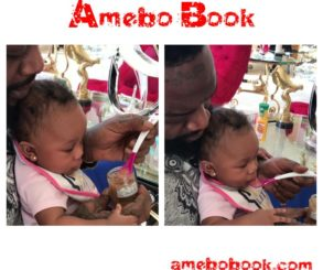 Rick Ross Daughter Hermes Eating From A Spoon For The First Time
