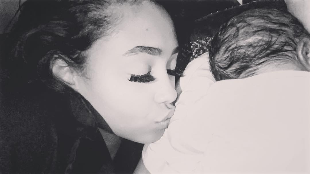 Jada Pollock With Son Zion Ayo-Balogun