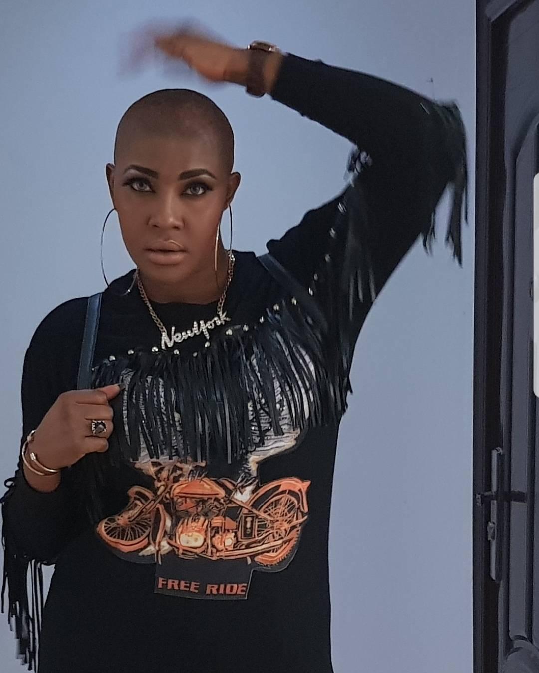 Angela Okorie Unveils New Bald Look (2)