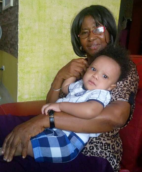 Yul Edochie Mother With Her Grandson Victory Zane Chukwubuike