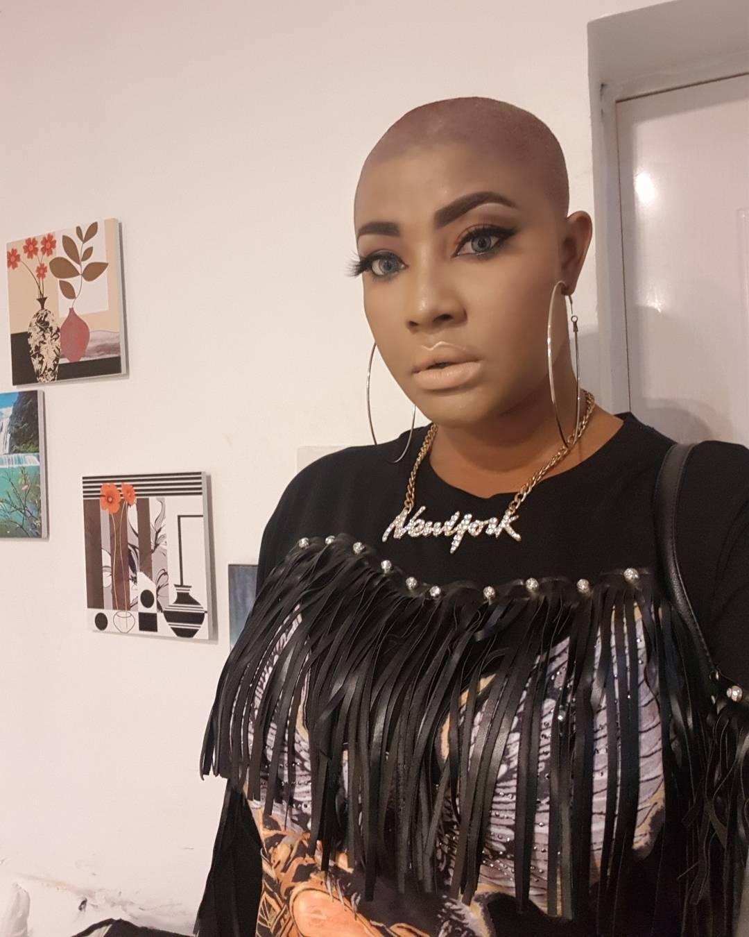 Angela Okorie Unveils New Bald Look (6)