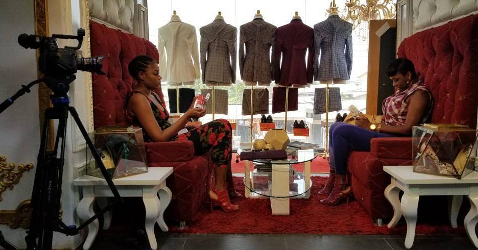 Yvonne Nelson And Princess Shyngle On Set Of New Movie Rape (9)