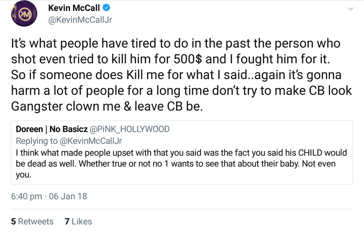 Kevin McCall Threatened Chris Brown And His Daughter Royalty (8)
