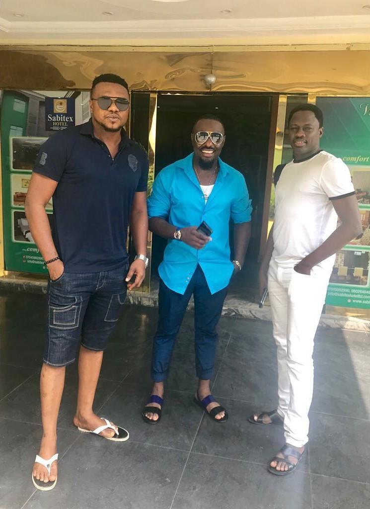Jim Iyke Poses With Ken Erics And Ali Nuhu (2)