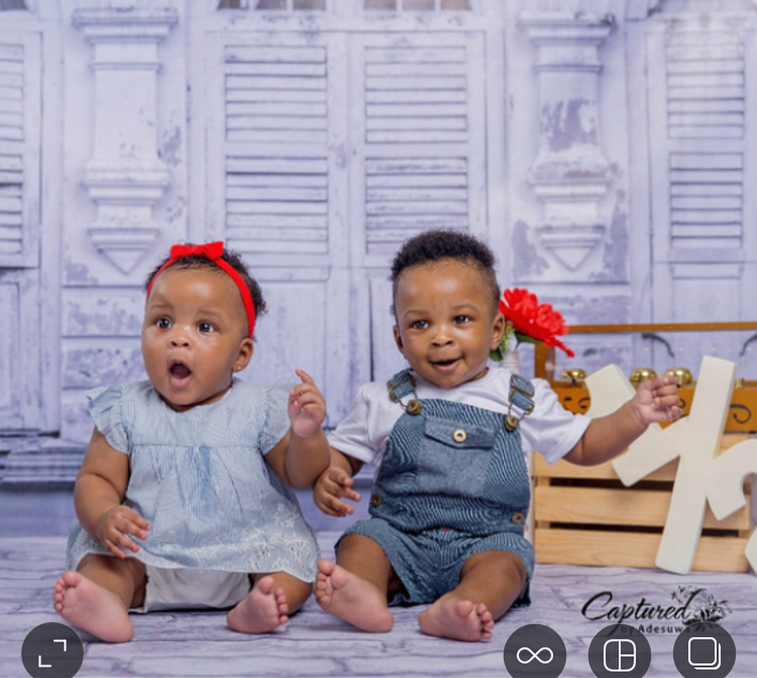 Paul Okoye Shares Photos Of His Twins Nadia And Nathan At 6 Months (2)