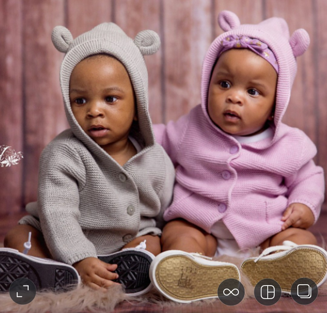 Paul Okoye Shares Photos Of His Twins Nadia And Nathan At 6 Months (3)