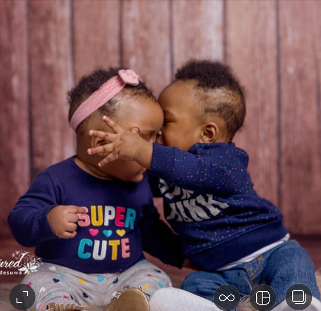 Paul Okoye Twins Nadia And Nathan At 6 Months