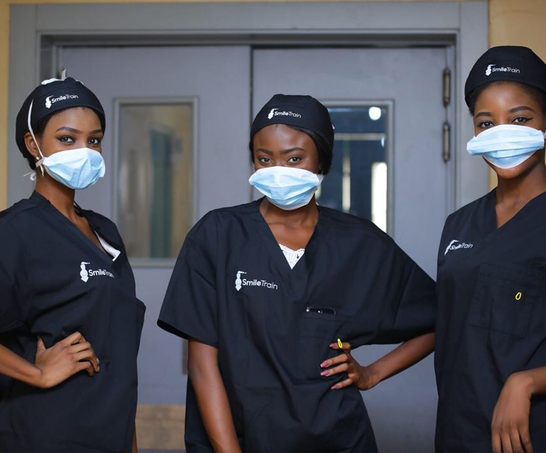 Stephanie Agbasi And Ruth Quashie Witness Surgery Carried Out On A Cleft Baby (3)