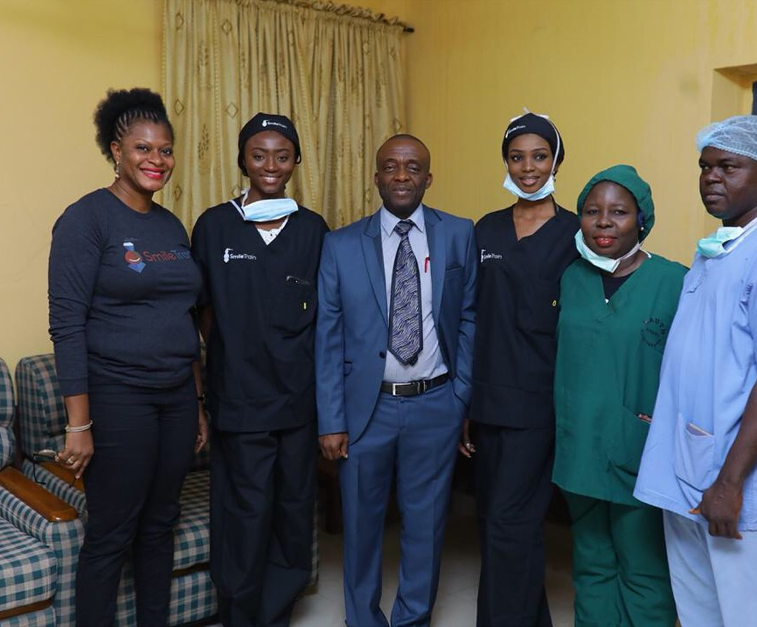 Stephanie Agbasi And Ruth Quashie Witness Surgery Carried Out On A Cleft Baby (7)