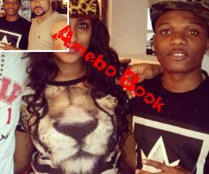 Wizkid And Juliet Ibrahim Posing Alongside Banky W And Majid Michel