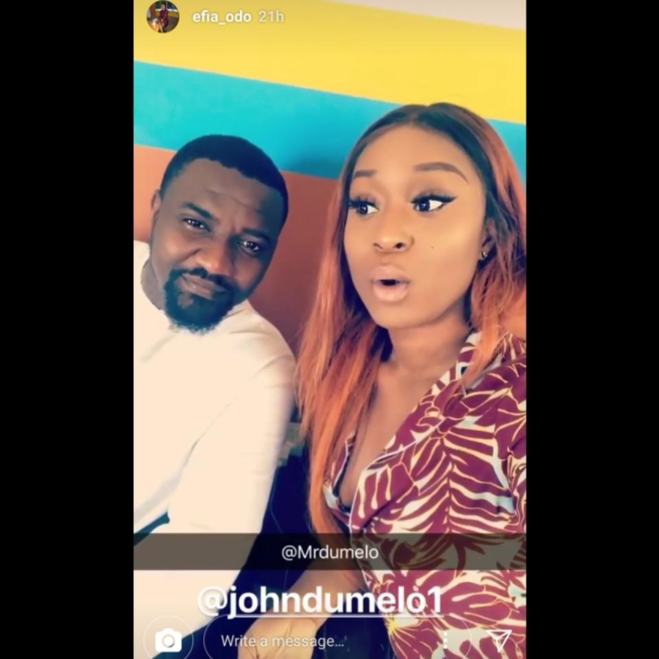 John Dumelo And Efia Odo Pictured Hanging Out