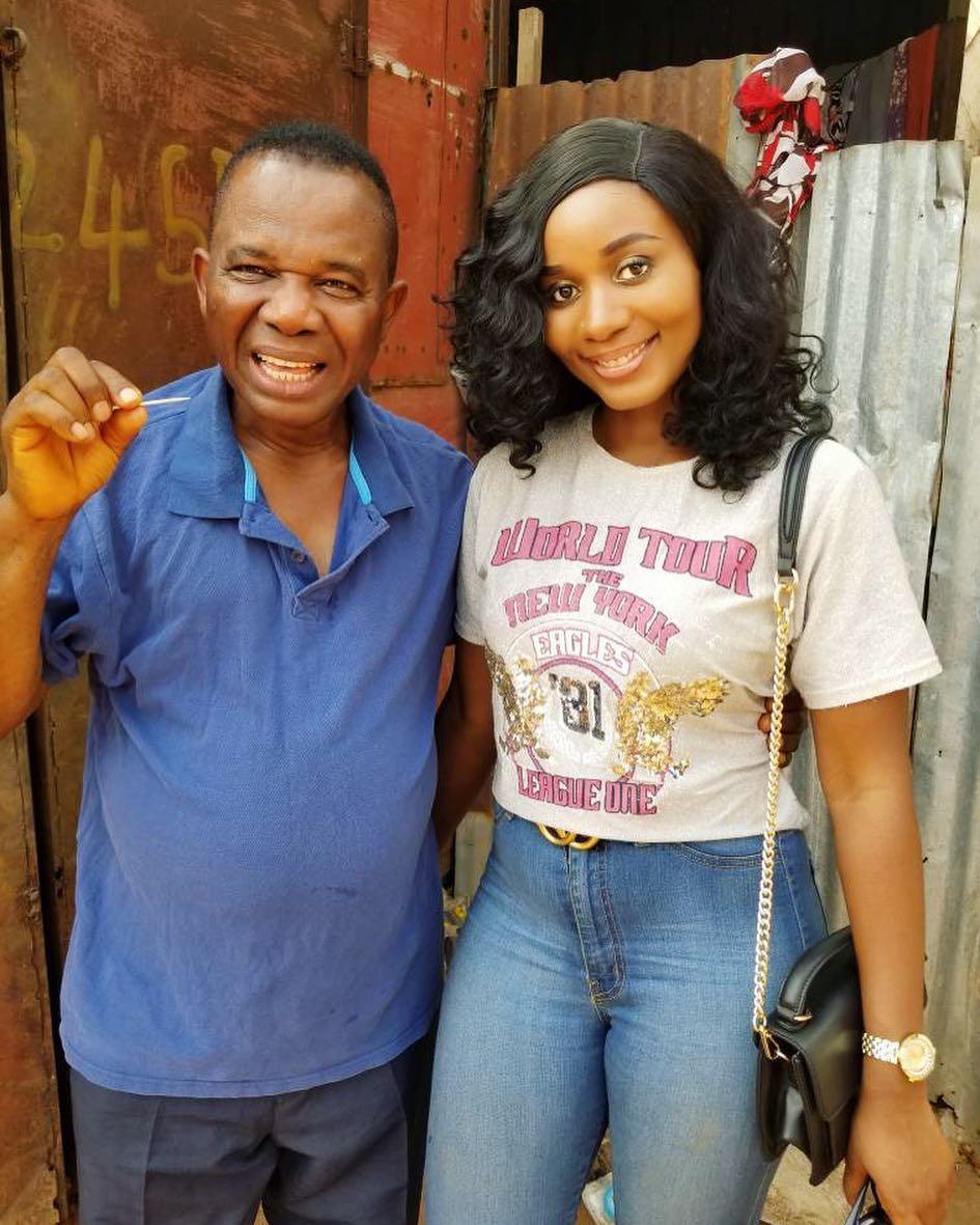 Chiwetalu Agu And His Toothpick Pose With Amanda Ebeye (2)