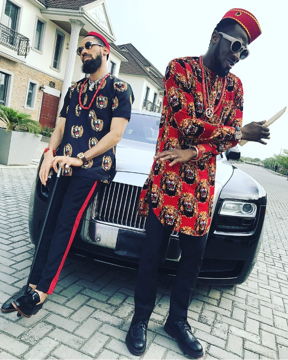 Isi Ego: Phyno And D'banj Rock Igbo Traditional Attires [Photo]