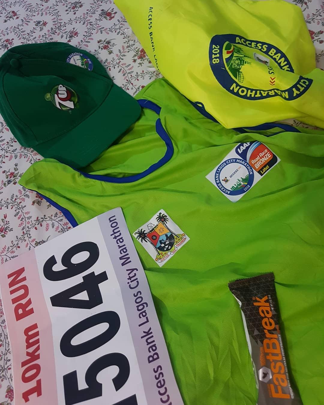 Monalisa Chinda Lagos Marathon 2018