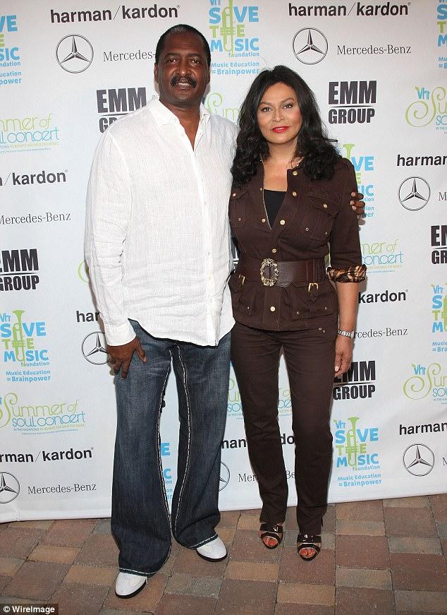 Mathew Knowles With Ex Tina