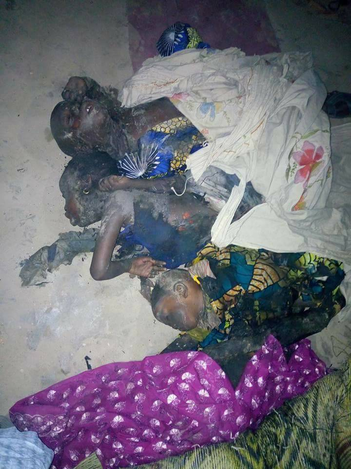 Mother And Her Four Kids Burnt To Death Following Midnight Fire (2)