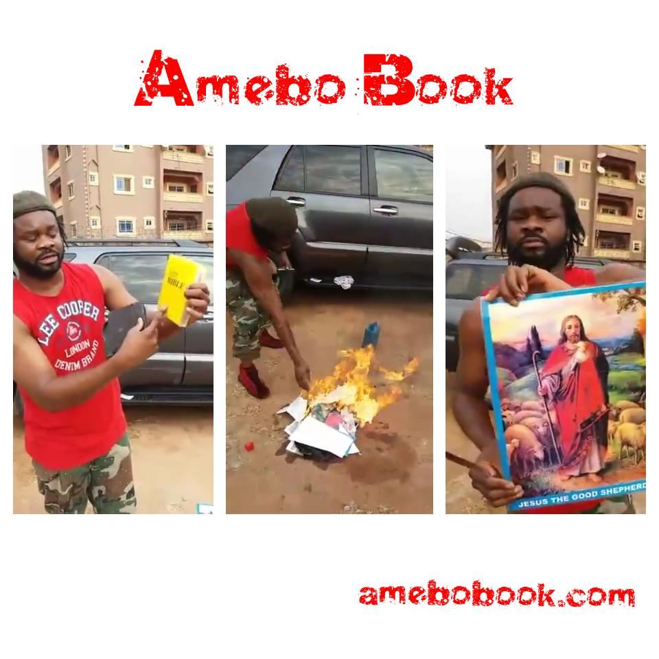 Nigerian Men Caught Burning The Holy Bible