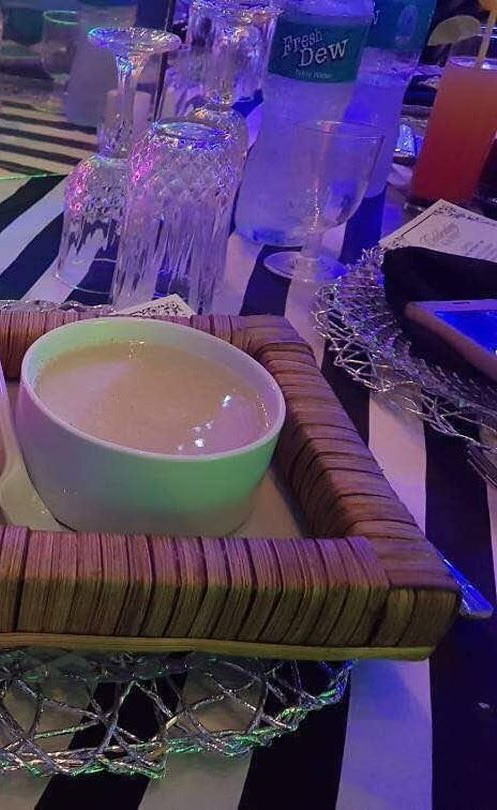 Garri And Fried Fish Was Served At A wedding In Lagos (3)