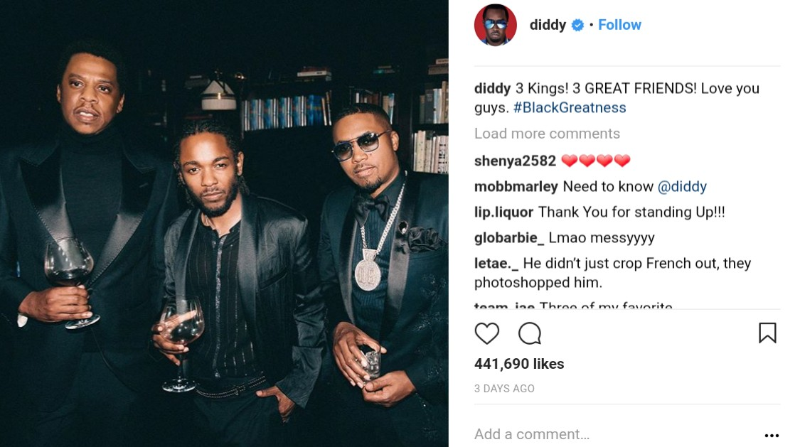 P Diddy Savagely Photoshopped French Montana Out Of Photo (2)
