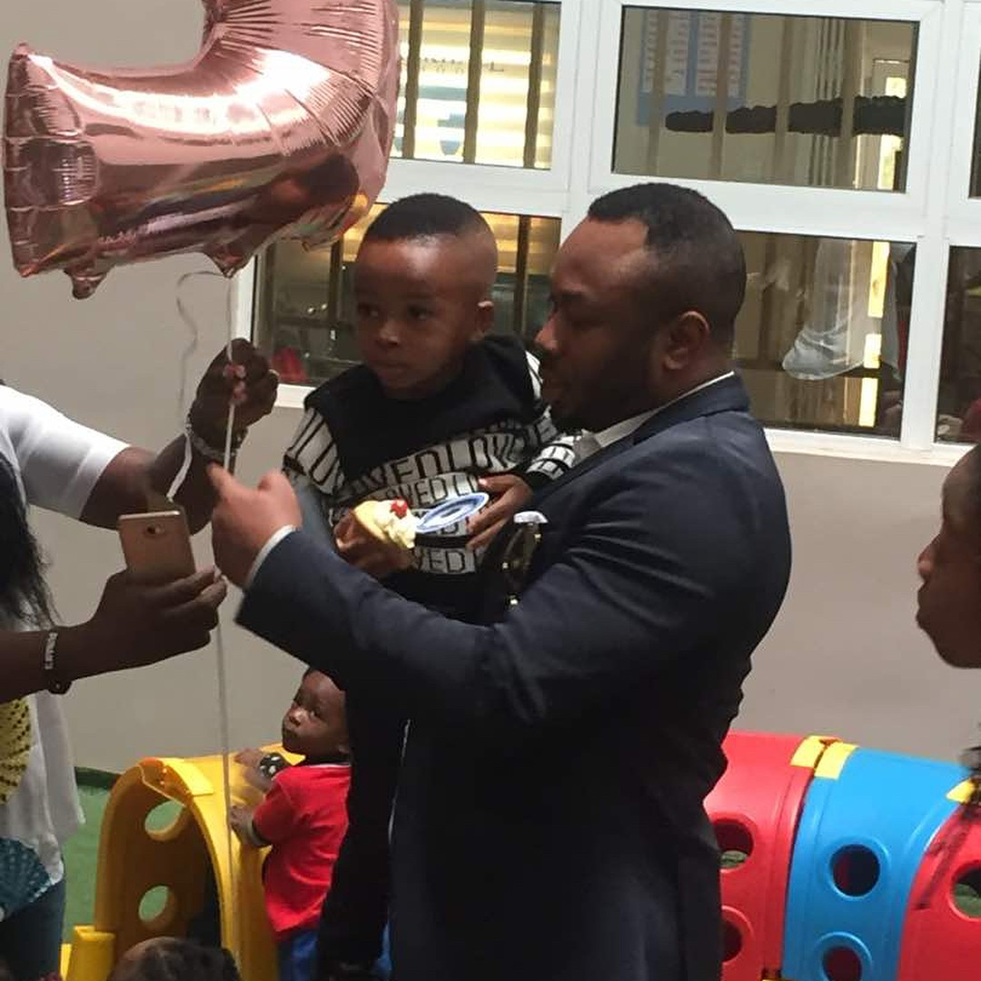 Tonto Dikeh And Olakunle Churchill Reunite For Son's Second Birthday (3)