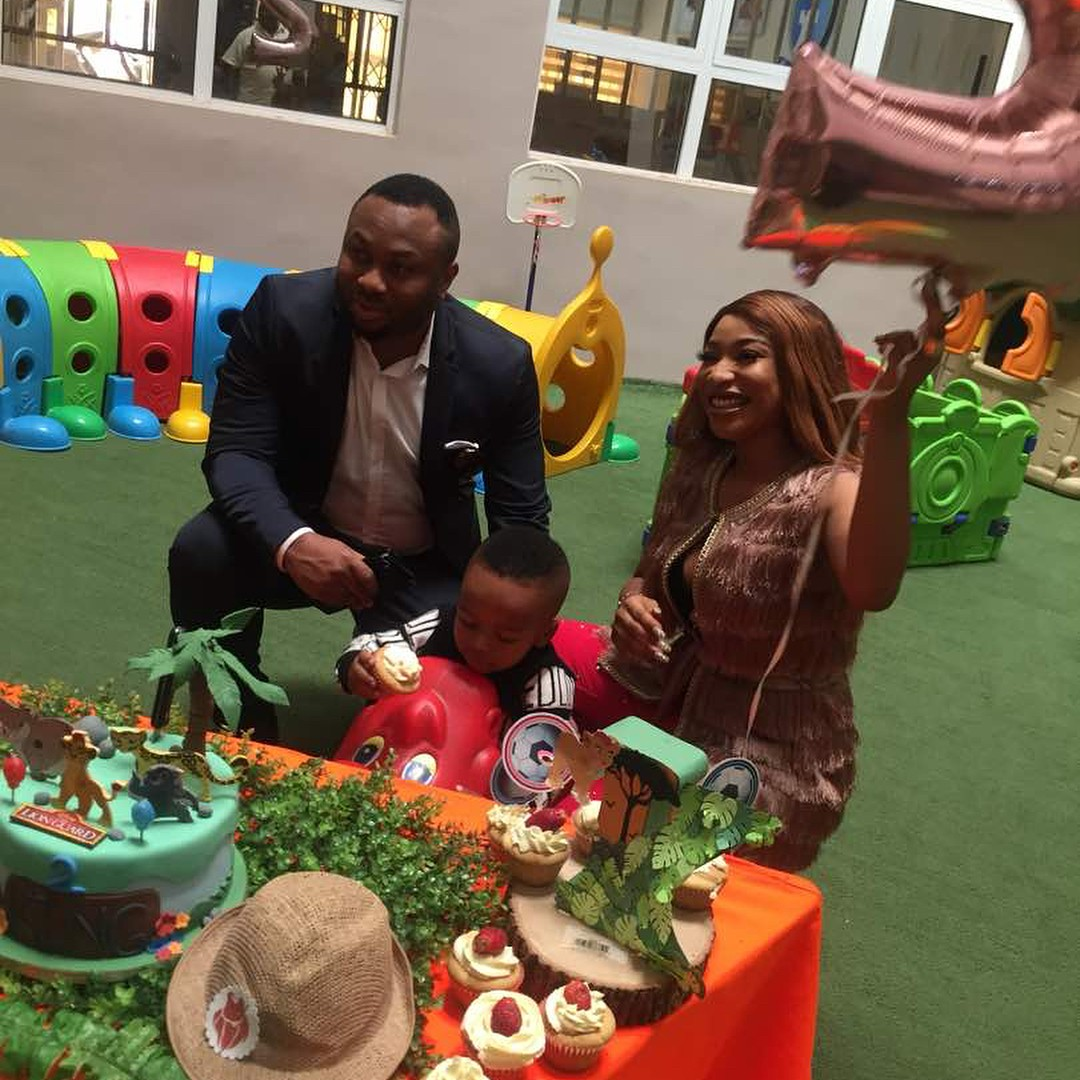 Tonto Dikeh And Olakunle Churchill Reunite For Son's Second Birthday (5)
