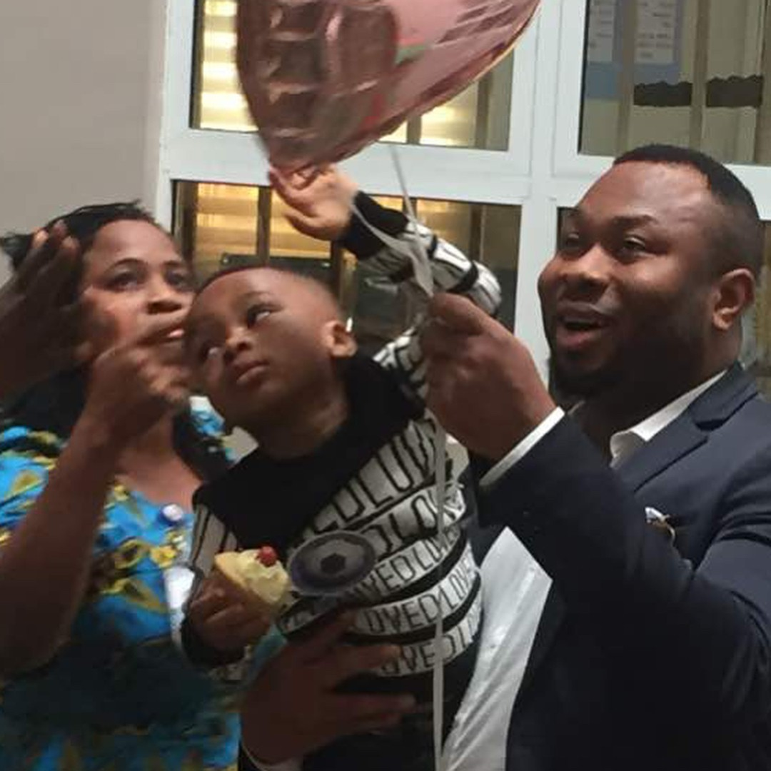 Tonto Dikeh And Olakunle Churchill Reunite For Son's Second Birthday (6)