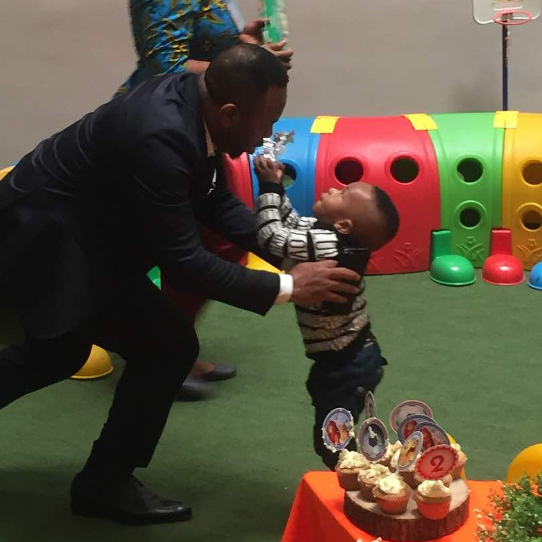 Tonto Dikeh And Olakunle Churchill Reunite For Son's Second Birthday (7)