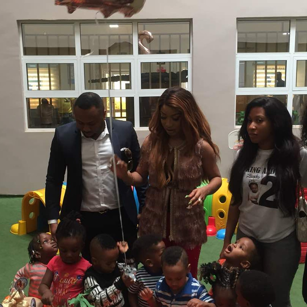 Tonto Dikeh And Olakunle Churchill Reunite For Son's Second Birthday (8)