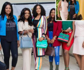 Jackie Appiah And Kafui Danku Pictured With Kalsoume Sinare