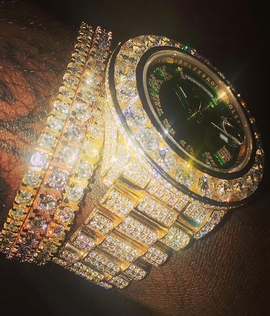 Rick Ross Shows Off His Iced-Out Jewelry On His Wrist (2)