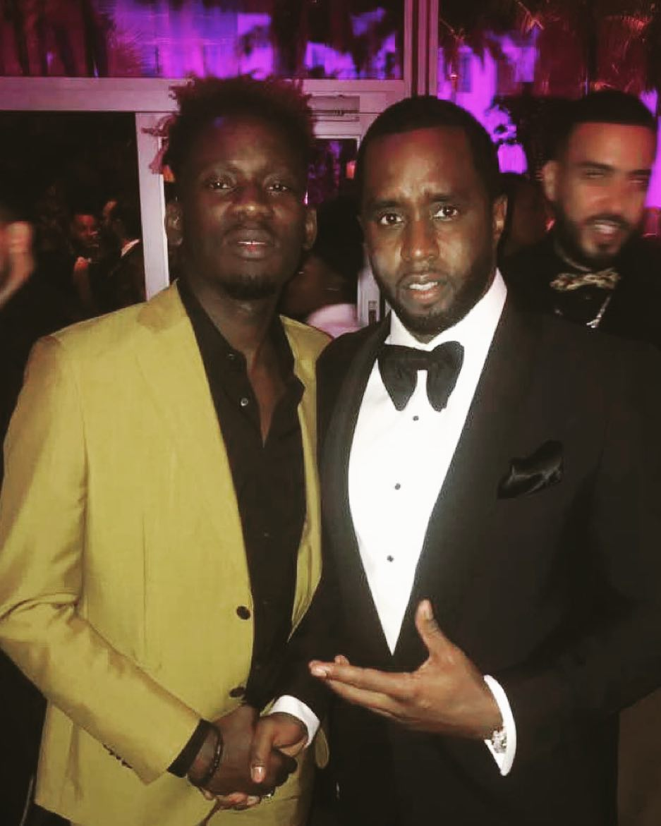 Mr Eazi Poses With Diddy At Vanity Fair Oscar Party 2018