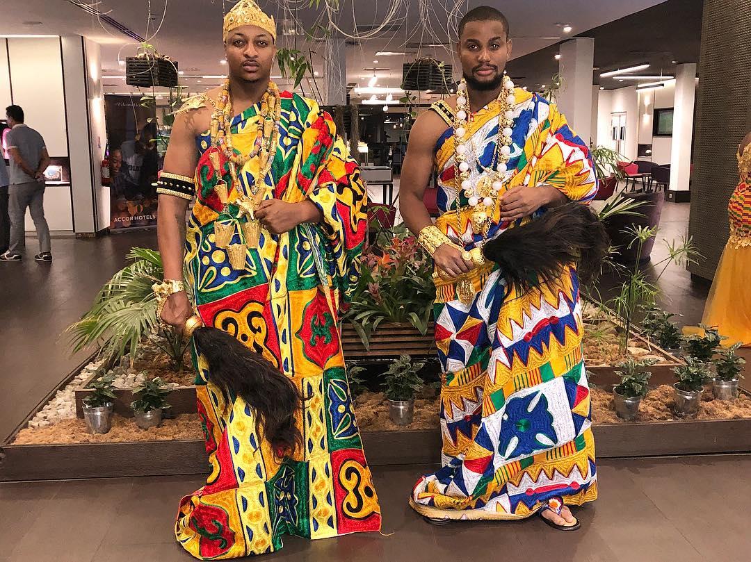IK Ogbonna And Alex Ekubo Slay In Traditional Ivorian Attires (2)