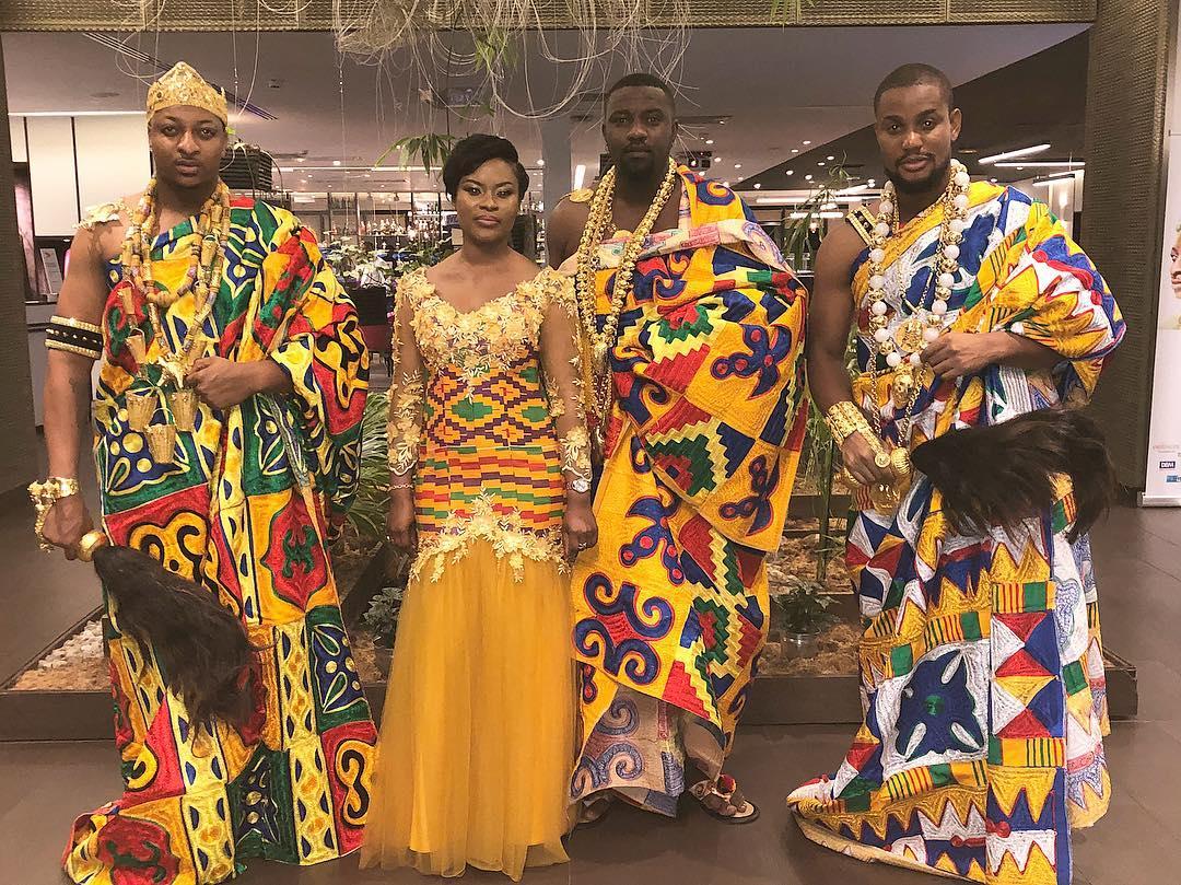 John Dumelo Alongside IK Ogbonna And Alex Ekubo Slay In Traditional Ivorian Attires