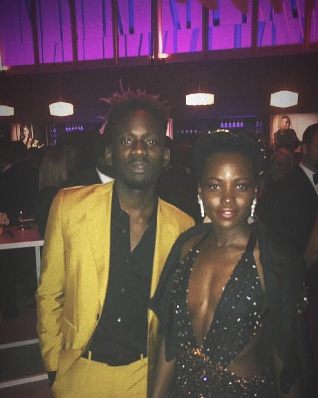 Mr Eazi Poses With Lupita Nyong'o Vanity Fair Oscar Party 2018