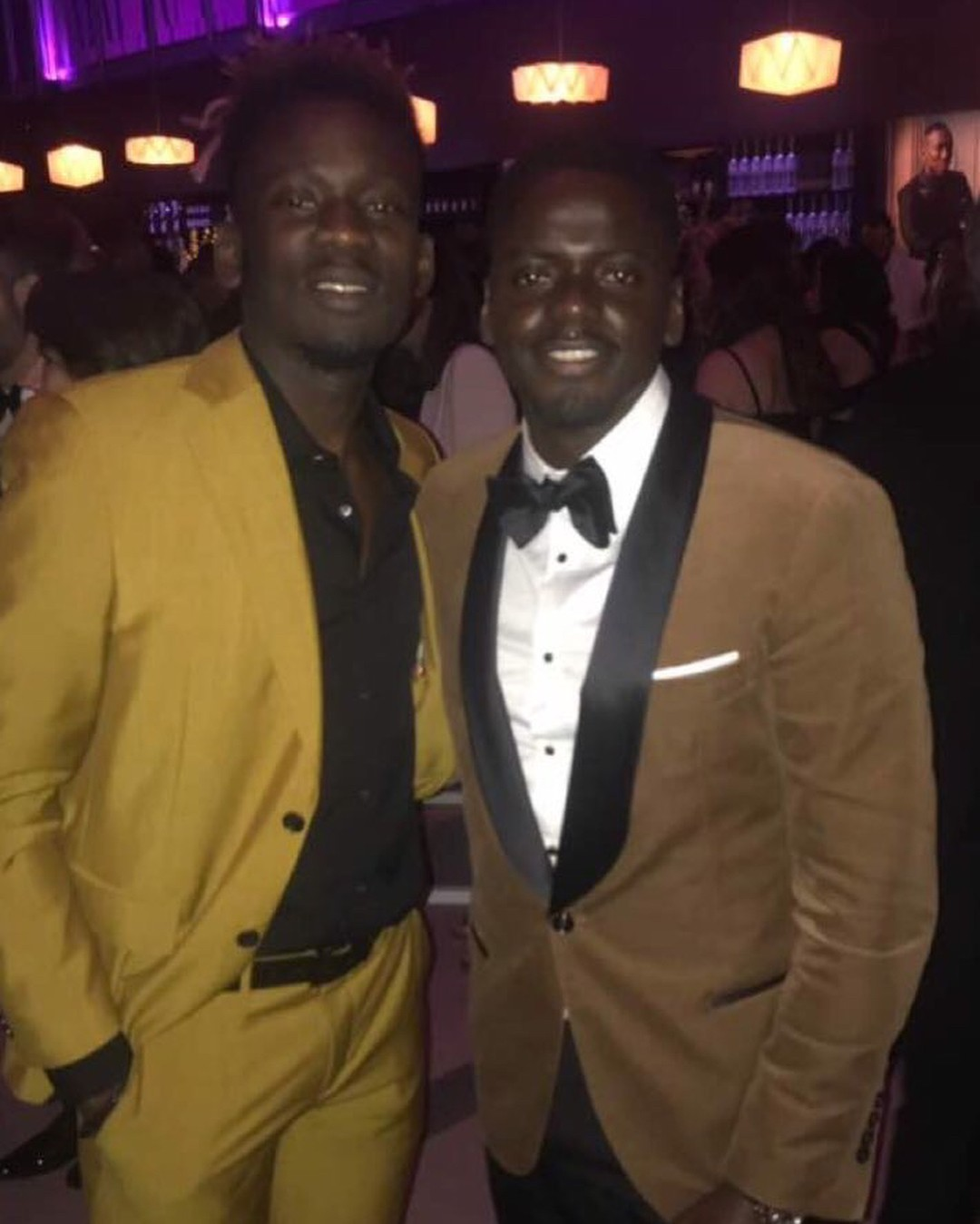 Mr Eazi Poses With Daniel Kaluuya Vanity Fair Oscar Party 2018