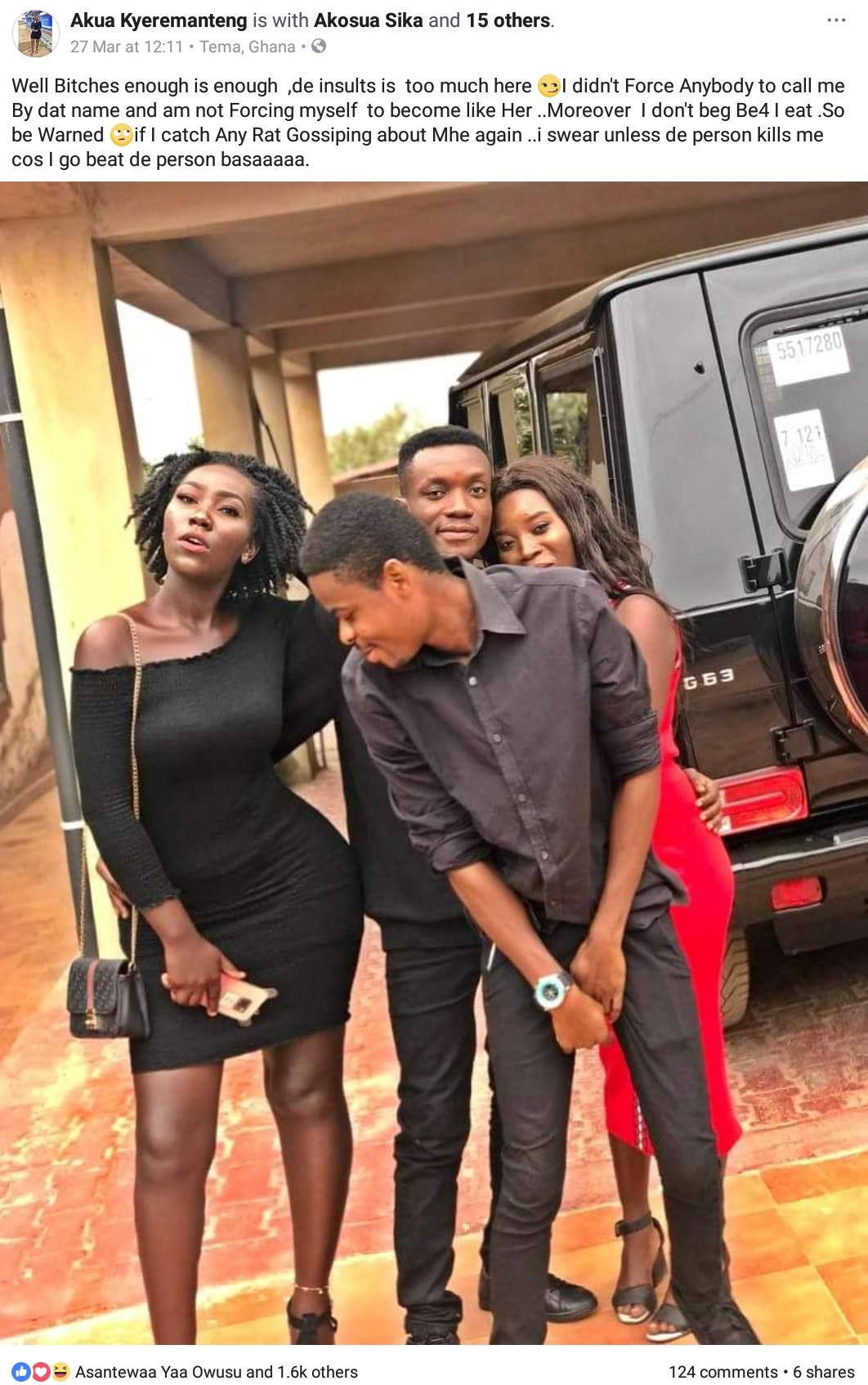 Akosua Kyeremanteng — Ebony Reigns Look-Alike Threatens To Beat Up Social Media Users (2)