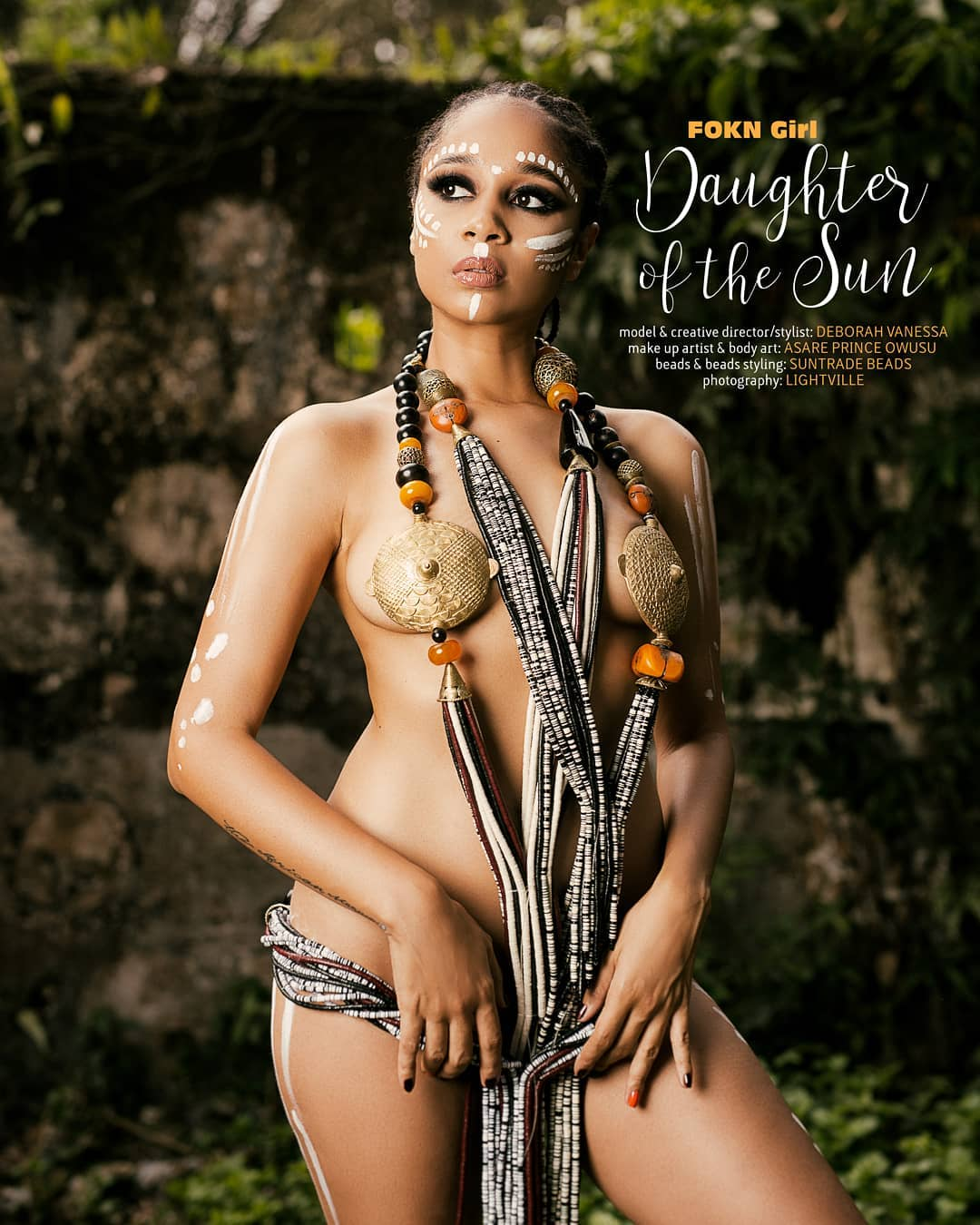 Sister Deborah In Artistic Nude Shoot With Beads (3)