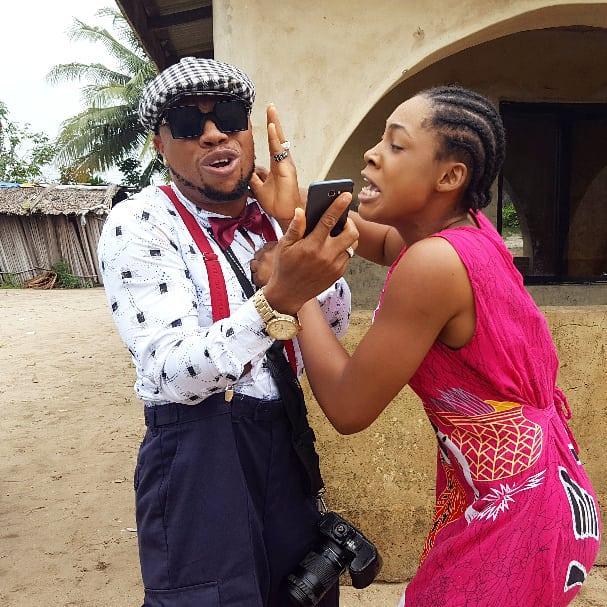 Charles Okocha On Set The Village Movie