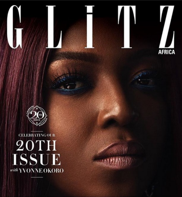 Yvonne Okoro Cover Of Glitz Africa 20th Issue