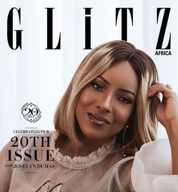 Joselyn Dumas Cover Of Glitz Africa 20th Issue