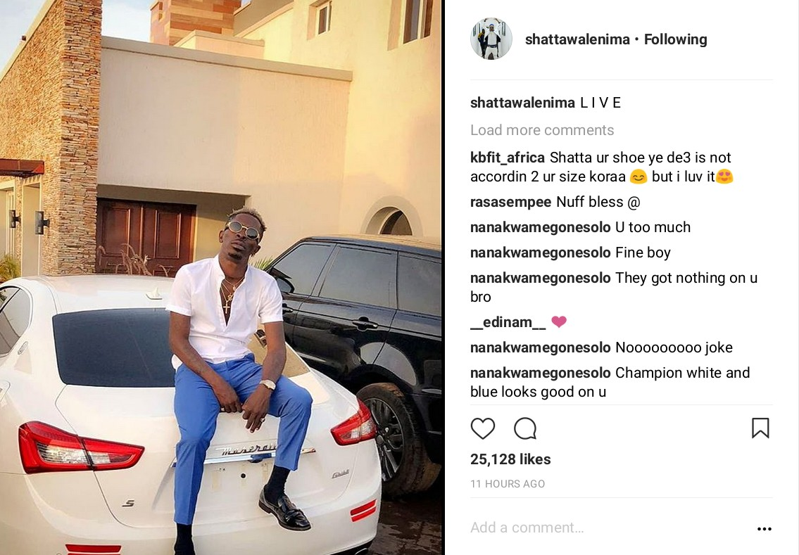 Shatta Wale Shows Off New Car And Mansion (2)