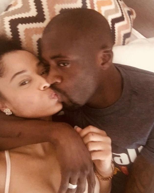 Yaya Toure Kissing Singer Tanika Bailey (2)