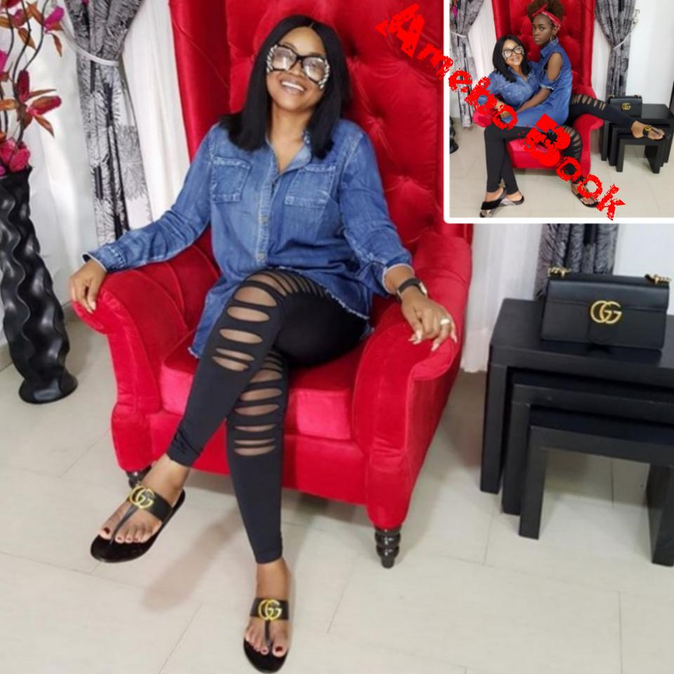 Mercy Aigbe And Daughter Michelle Slay In Denim