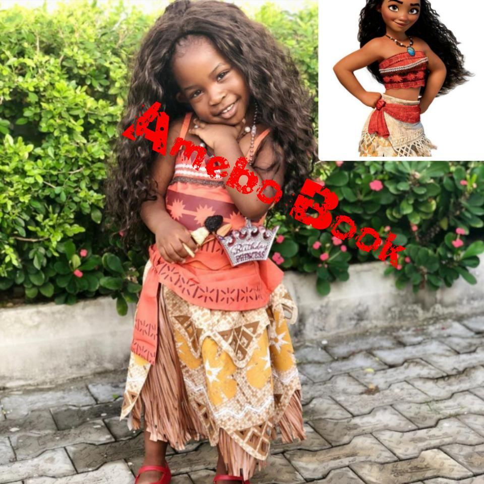 Imade Adeleke Recreates Moana's Look