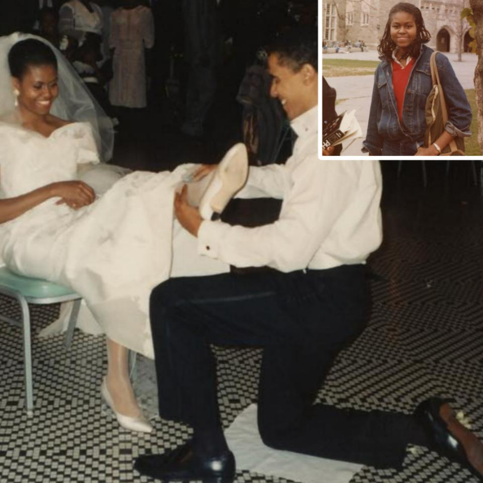 Michelle Obama Shares Epic Throwback To Wedding Day