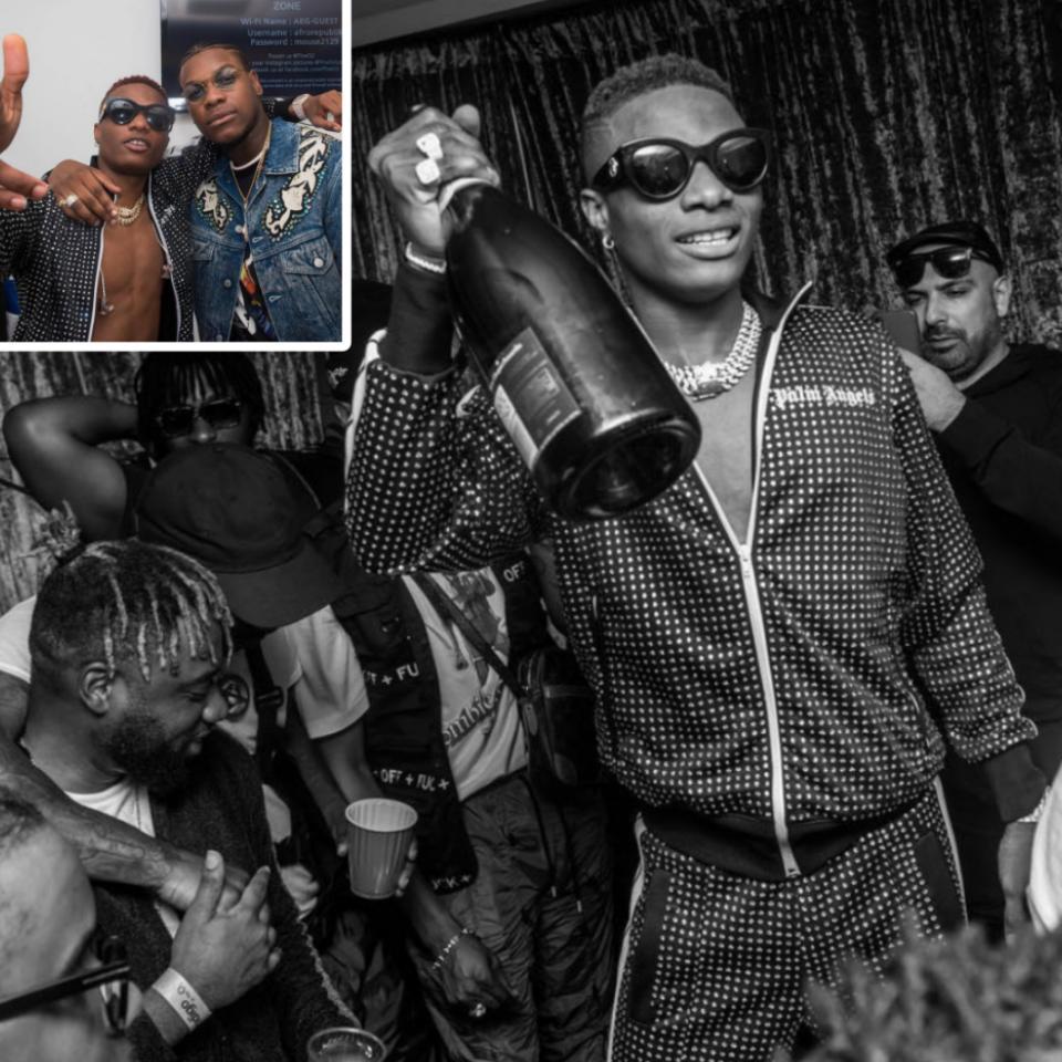 John Boyega Poses With Wizkid And Tiwa Savage