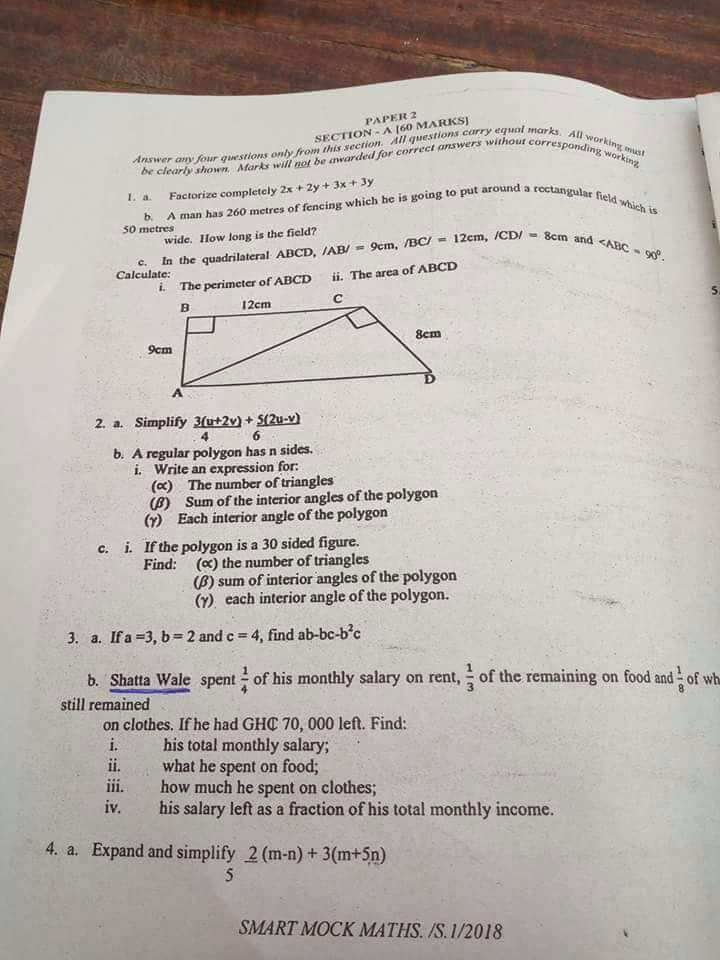 Shatta Wale Name Was Used To Set Question In Examination (2)